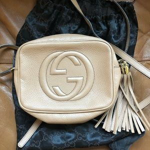 Gucci soho disco rose beige crossbody